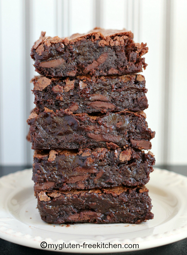 Gluten-free Chewy Fudgy Brownies Recipe - This will cure your chocolate craving!
