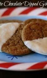 White Chocolate Dipped Gingersnaps {Gluten-free}