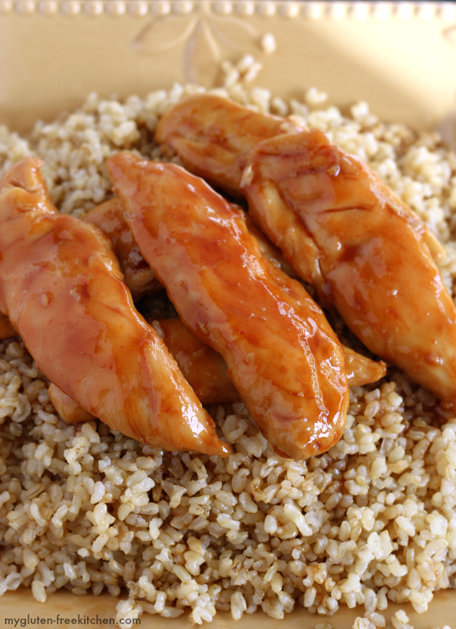 Gluten-free Sweet Chicken recipe. Easy 5 ingredient gluten-free dinner that my family loves!