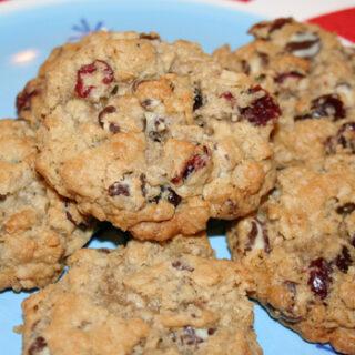Gluten-free Swirl Chip Cranberry Oatmeal Cookies