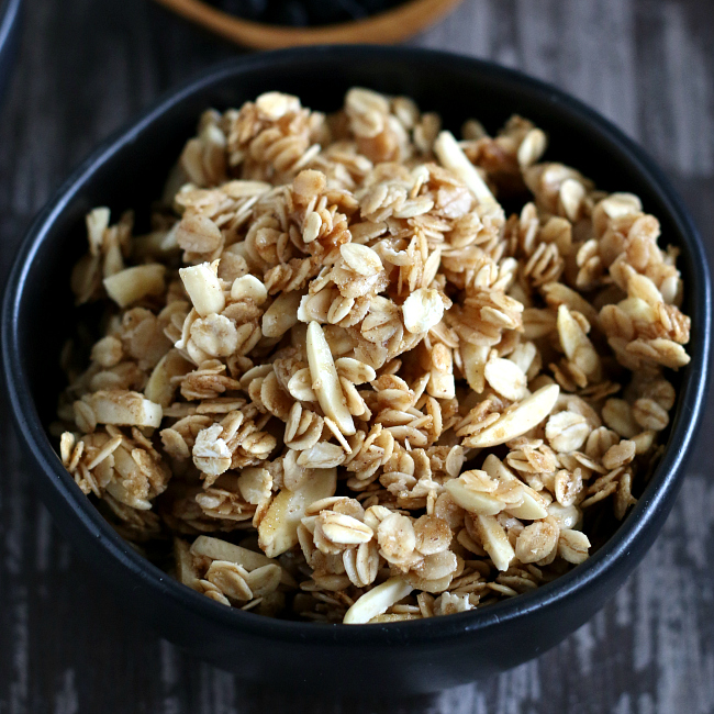 Bowl of gluten-free granola