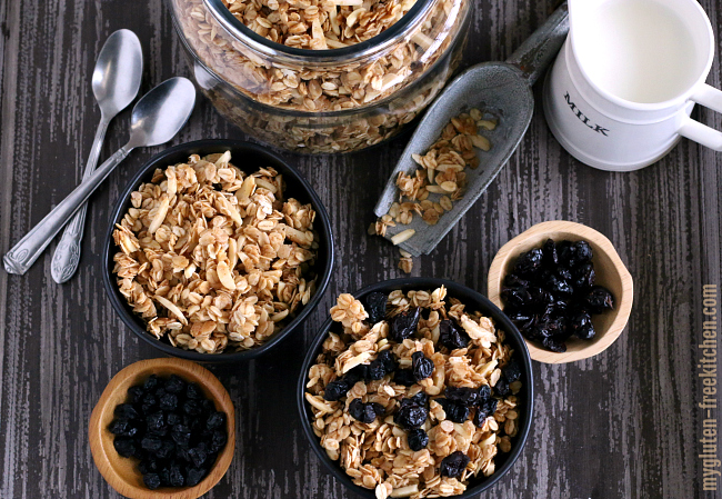 Gluten free almond granola