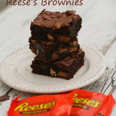 Reeses Brownies {Gluten-free}