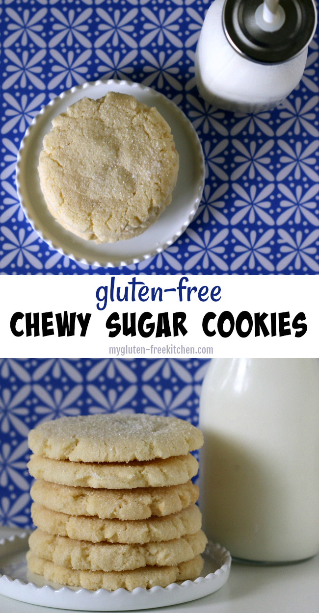 Gluten-free Chewy Sugar Cookies Recipe. Easy drop cookies recipe! We enjoy these year-round!