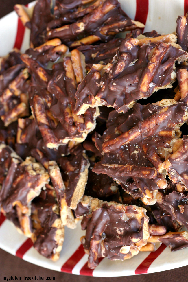 Gluten-free Pretzel Bark Sweet and Salty Snack