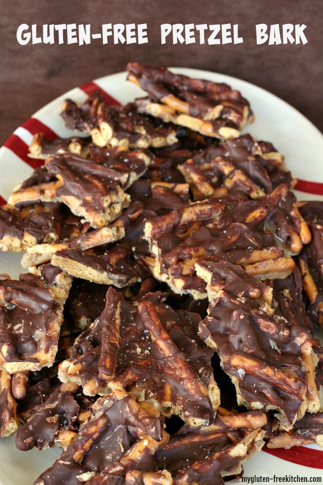 Gluten-free pretzel bark