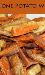 Two Tone Potato Wedges {Gluten-free}