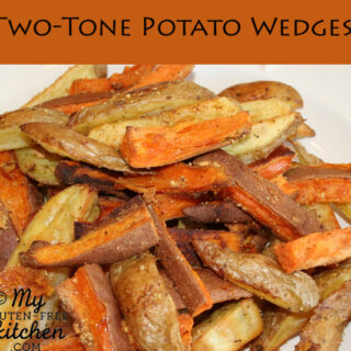 Two Tone Potato Wedges {Gluten-free}