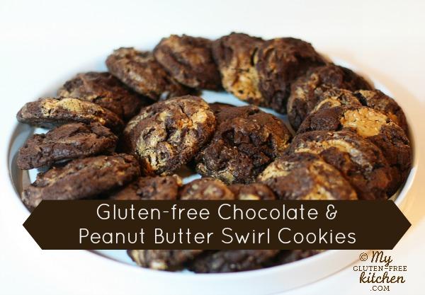 Chocolate Peanut Butter Swirl Cookies {gluten-free}