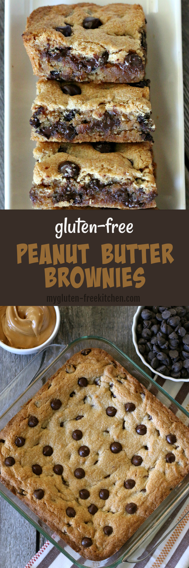 Gluten-free Peanut Butter Brownies Recipe. This is what I make when I'm craving dessert but want something super easy!