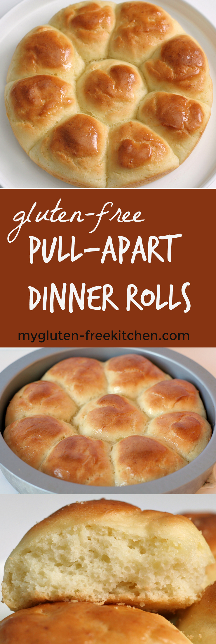Gluten-free Pull-Apart Dinner Rolls recipe that's perfect for holiday dinners like Thanksgiving, Christmas and Easter. We enjoy these for weeknight meals too! Includes instructions for making dairy-free or egg-free too.