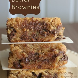 Peanut Butter Brownies {Gluten-free}