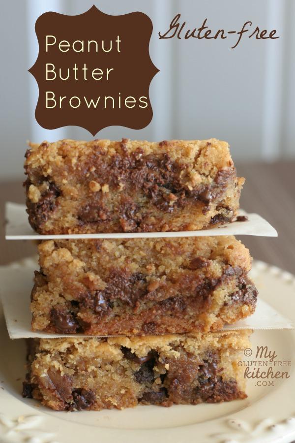 Peanut Butter Brownies {Gluten-free}