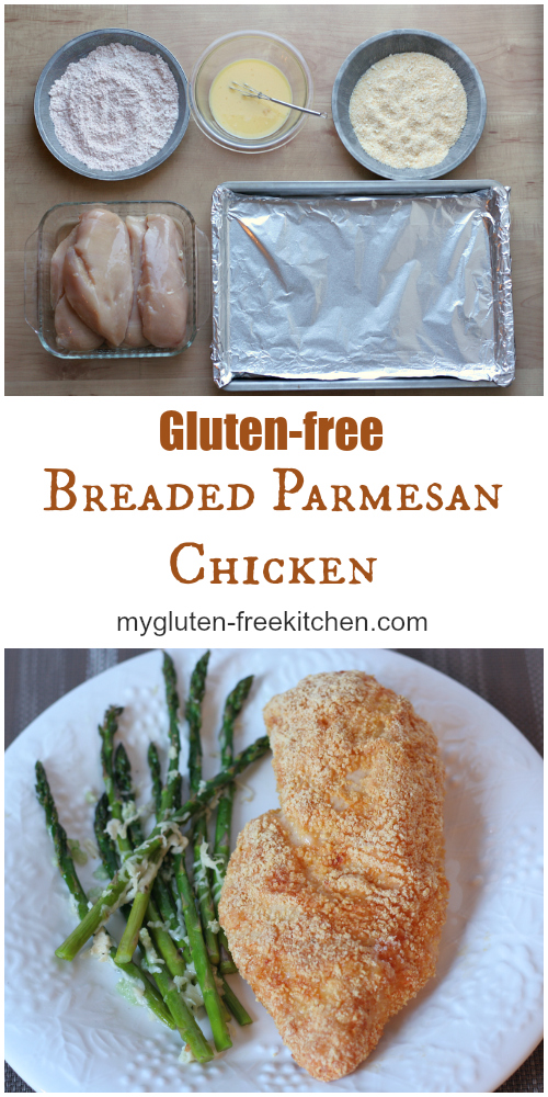 Gluten-free Breaded Parmesan Chicken - This baked chicken is a family favorite meal.