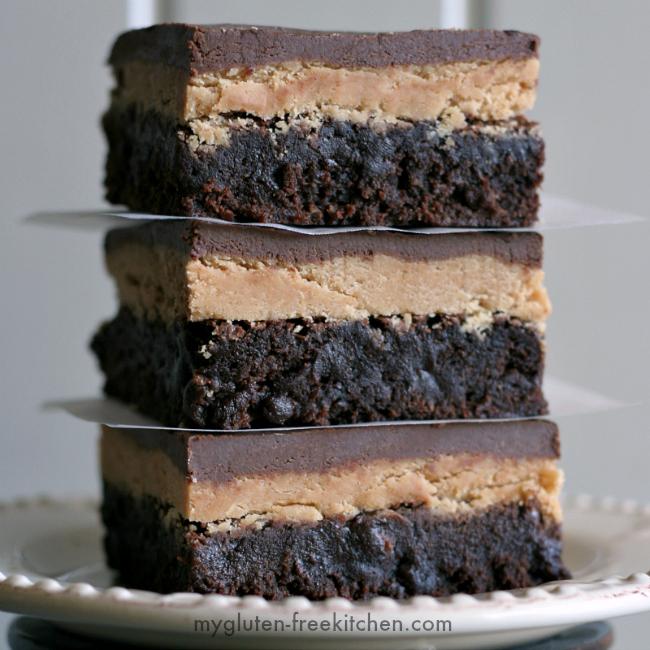 Gluten-free Buckeye Brownies recipe