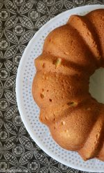 Gluten-free Cream Cheese Pound Cake. Easy and yummy Bundt Cake recipe!
