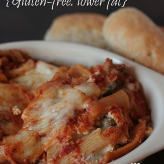 Healthier Baked Ziti {gluten-free, lower fat}