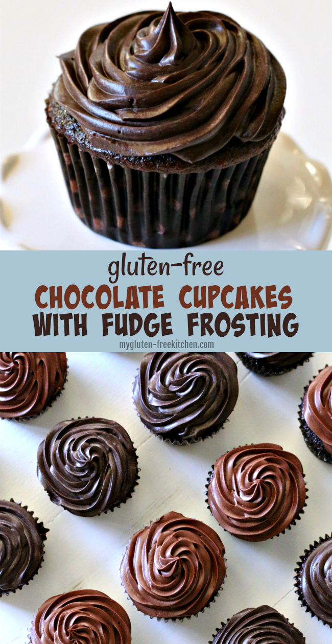 Gluten-free Chocolate Cupcakes with Chocolate Fudge Frosting Recipe