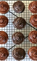 Gluten free Chocolate Cupcakes with chocolate frosting
