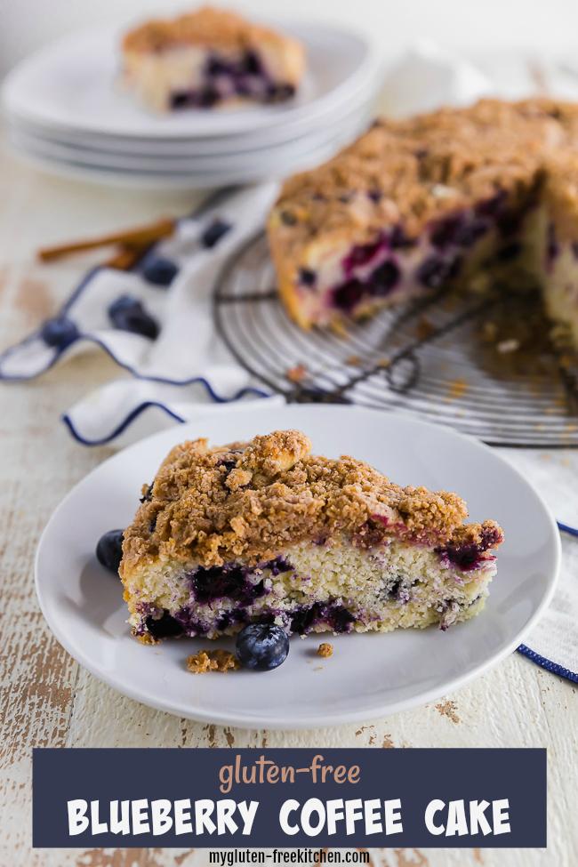 Gluten-free Blueberry Coffee Cake Slice
