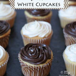 White Cupcakes and Review of The Everything Guide to Living Gluten-free