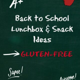 Back to School Edition Gluten-free Lunch and Snack Ideas
