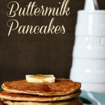 Gluten-free Buttermilk Pancakes - made with almond flour and millet! These are amazing!