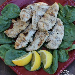 Grilled Lemon Garlic Chicken {Gluten-free}