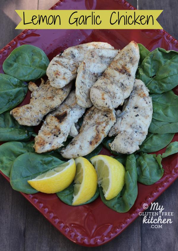 Gluten-free Grilled Lemon Garlic Chicken