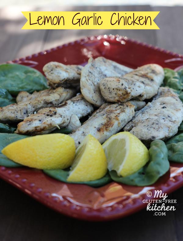 Lemon Garlic Chicken {Gluten-free}