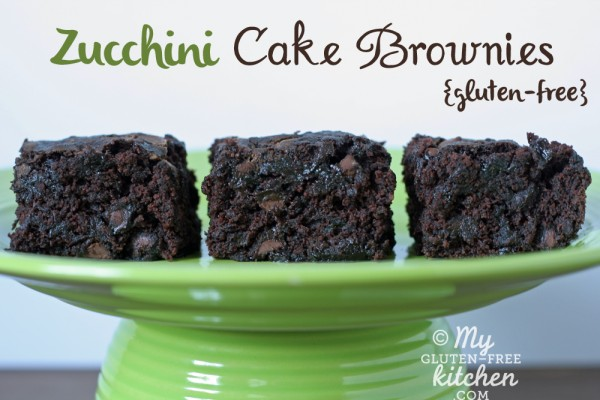Gluten-free Zucchini Cake Brownies - This is a delicious way to use up your zucchini!