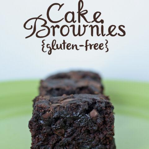 Gluten-free Zucchini Cake Brownies {Dairy-free, Egg-free}