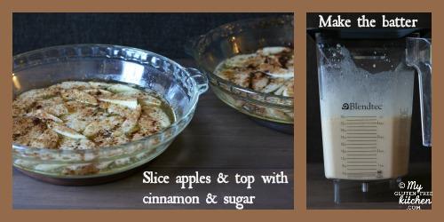 Gluten-free Apple Puff Pancake Steps