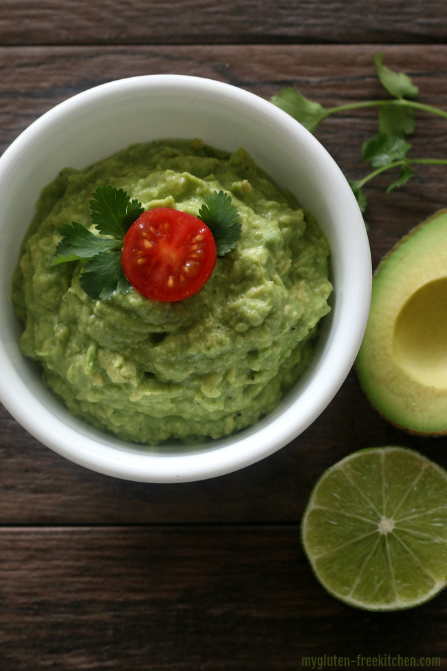 Easy Gluten-free Guacamole. A super simple guacamole recipe.