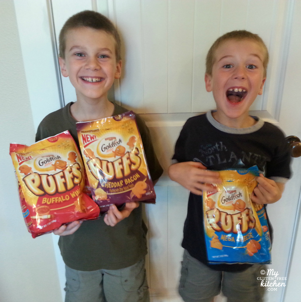 My kids were excited to try Goldfish Puffs