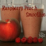 Raspberry Peach Smoothie {Gluten-free}