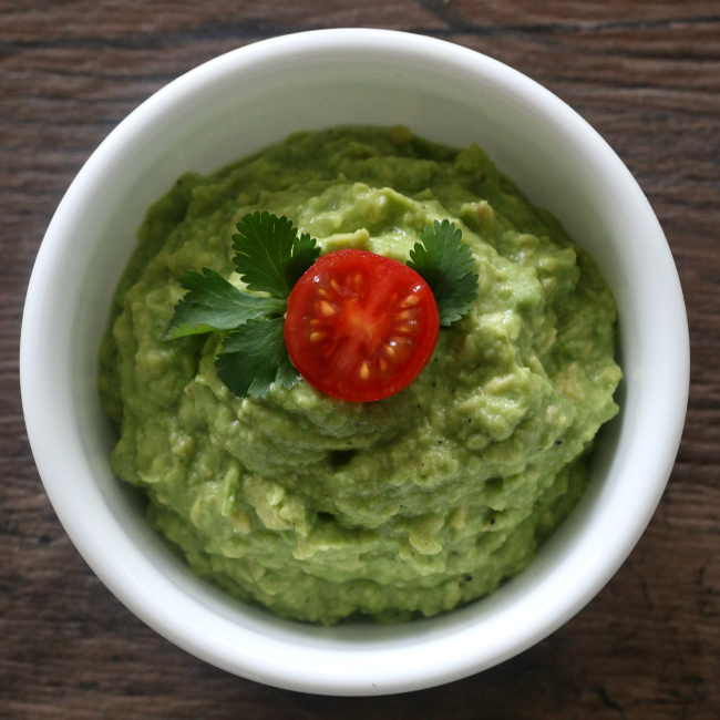 Bowl of Easy Homemade Guacamole Recipe