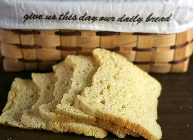 Bread Machine gluten-free dairy-free bread slices