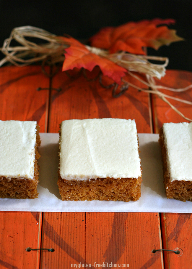 Gluten Free Pumpkin Bars Recipe.