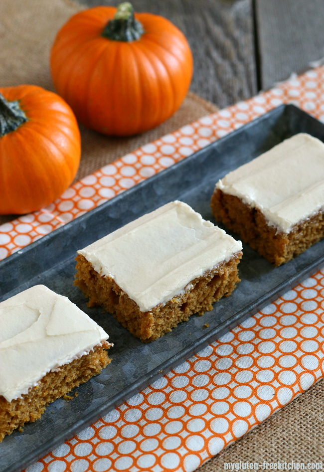 Gluten-free Cake-like Pumpkin Bars