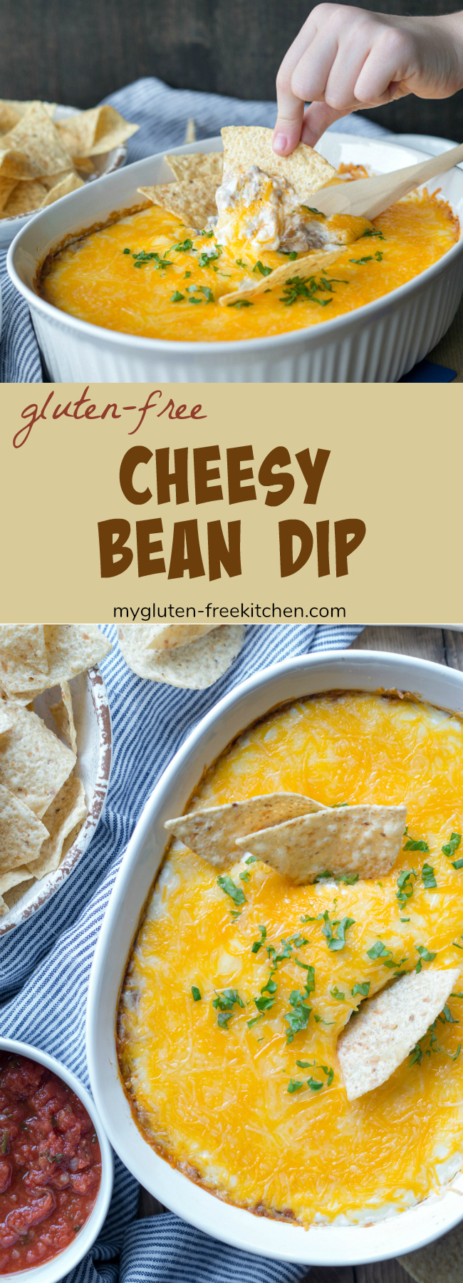 Gluten-free Cheesy Bean Dip recipe