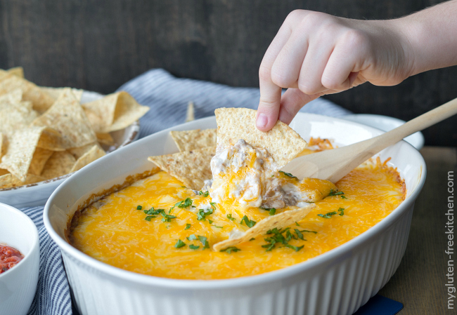 Gluten-free Cheesy Beef and Bean Dip