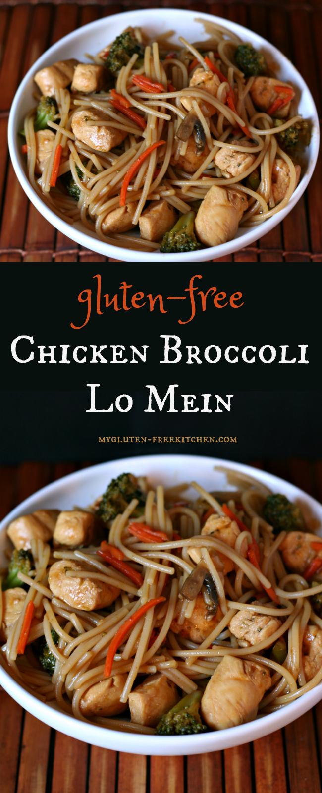 Gluten-free Chicken Broccoli Lo Mein Recipe