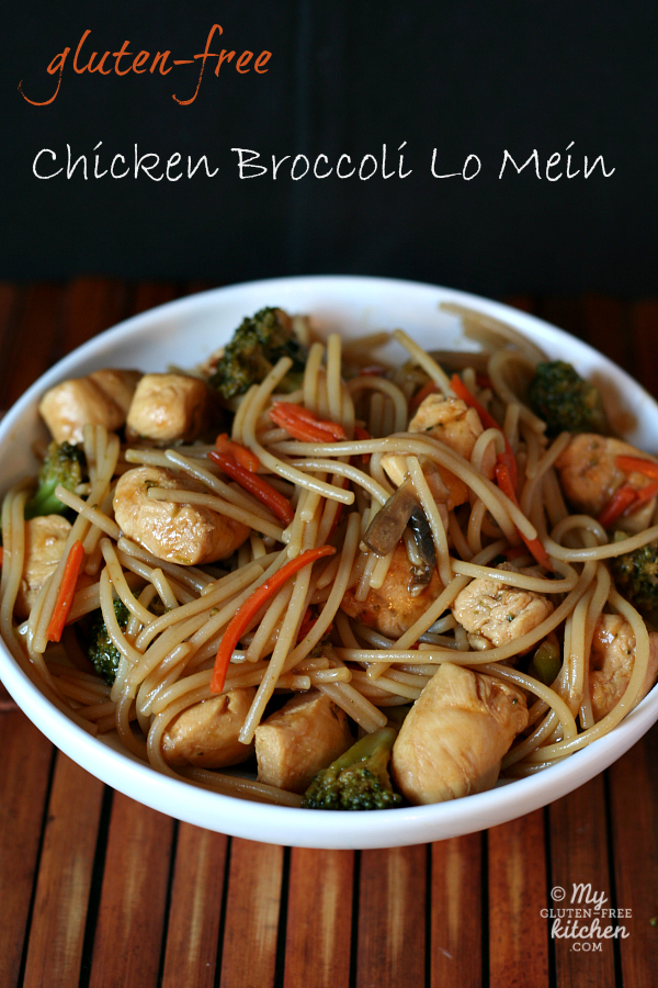 Gluten-free Chicken Broccoli Lo Mein