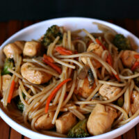 Gluten-free Chicken Broccoli Lo Mein
