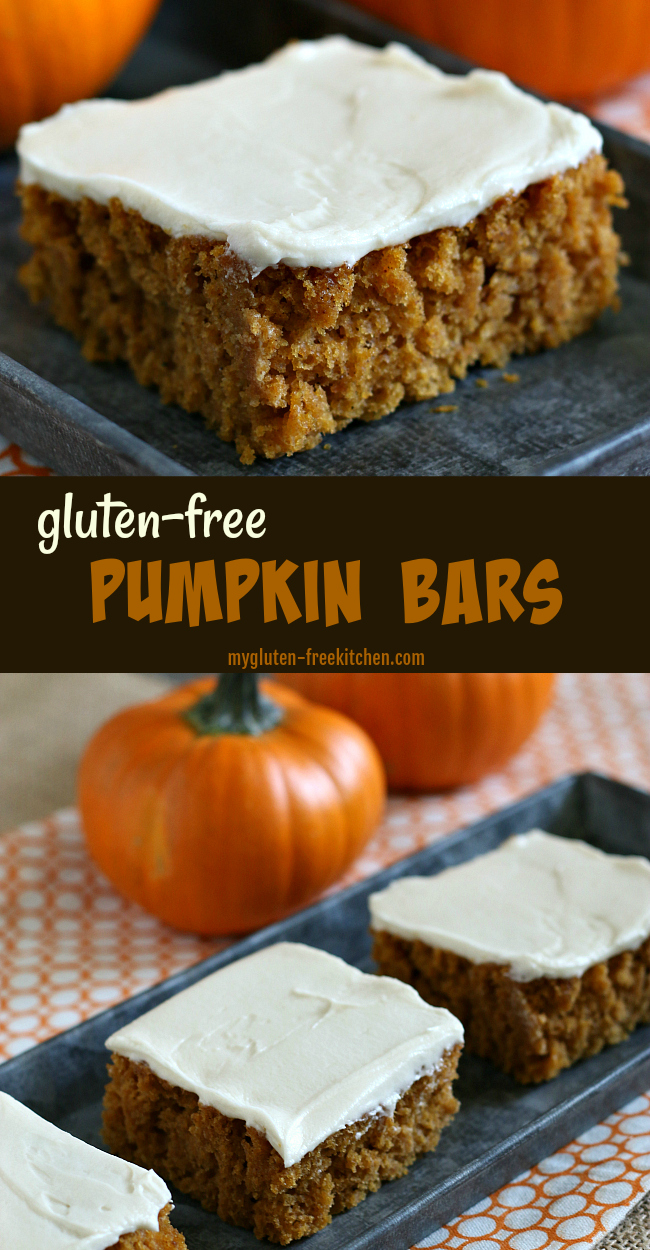Gluten-free Pumpkin Bars with Cream Cheese Frosting Recipe