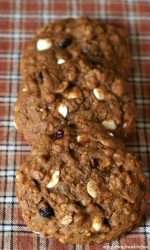 Gluten-free Pumpkin Oatmeal Cranberry White Chocolate Chip Cookies Recipe. These get more flavorful as the days go on even!