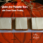Pumpkin Bars with Cream Cheese Frosting {Gluten-free}