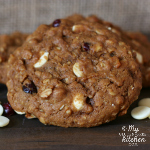 Pumpkin White Chocolate Cranberry Oatmeal Cookies {Gluten-free}