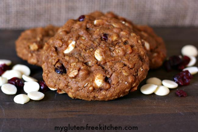 Gluten-free Pumpkin Cranberry Oatmeal White Chocolate Cookies Recipe